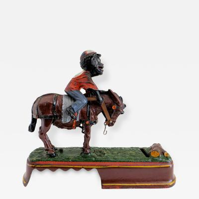 Mechanical Bank I Always Did Spise a Mule Jockey Over Variation Near Mint