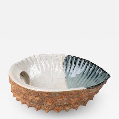 Meiji Period Abalone Shell Ceramic Basin