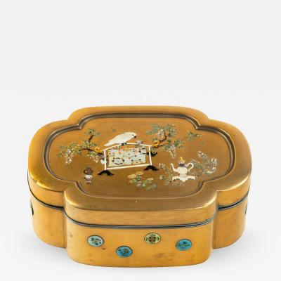 Meiji Period Shibayama and Gold Lacquer Box