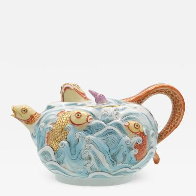 Meissen Vintage Reproduction of a Famous Early Teapot by K ndler
