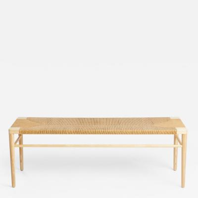 Mel Smilow Smilow Furniture Ash and Natural Rush Bench