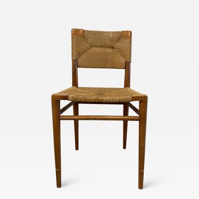 Mel Smilow Smilow walnut and rush dining chair