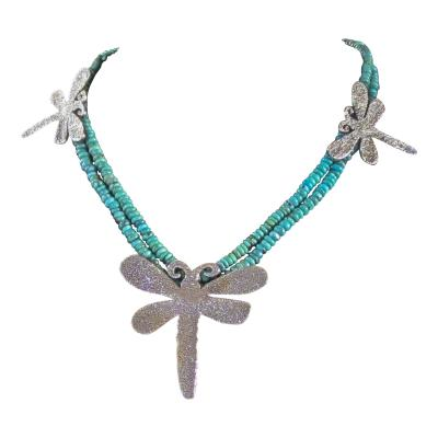 Melanie A Yazzie Dragon Fly Necklace