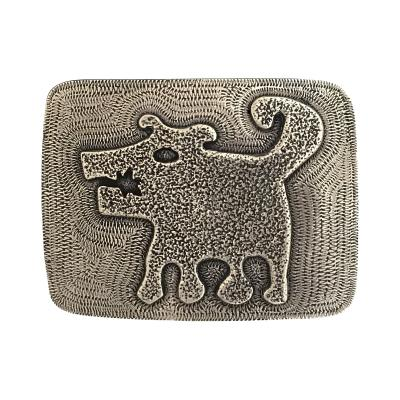 Melanie A Yazzie Sombra Girl Belt Buckle