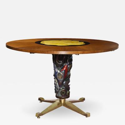 Melchiorre Bega Circular Center Dining Table by Melchiorre Bega for Altamira