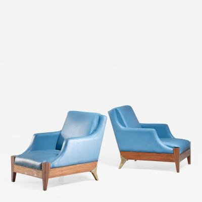 Melchiorre Bega Melchiorre Bega pair of lounge chairs Italy 1940s