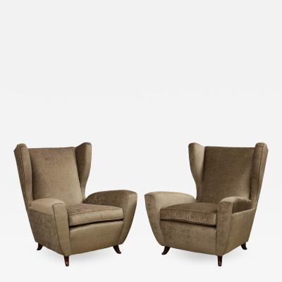 Melchiorre Bega Pair of Club Chairs attributed to Melchiorre Bega