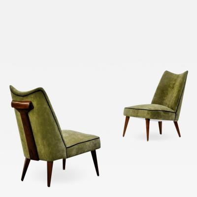Melchiorre Bega Pair of Low Chairs
