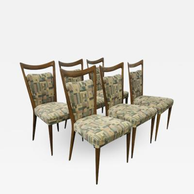 Melchiorre Bega Set of Six Italian Melchiorre Bega Dining Chairs