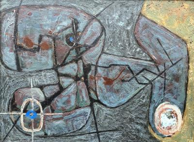 Melville Price Melville Price Untitled Abstraction 1955