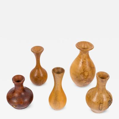 Melvin Lindquist Melvin Lindquist Handcrafted Turned Vase Grouping USA 1970s