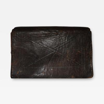 Mens 19th C Leather Wallet