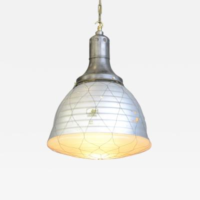 Mercury Glass Pendant Light By Adolf Meyer For Zeiss 1930s