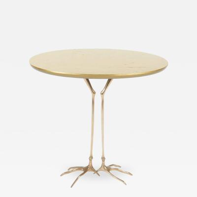 Meret Oppenheim Gold Leaf and Bronze Traccia Table by Meret Oppenheim 1970s