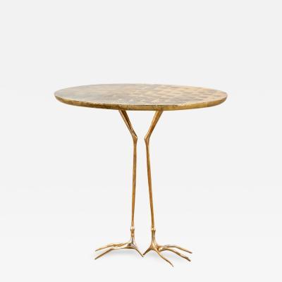 Meret Oppenheim Meret Oppenheim Traccia Side Table by Simon Gavina Golden 70s