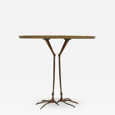 Meret Oppenheim Traccia Bronze and Gold Leaf Italian Table by Meret Oppenheim for Simon Gavina