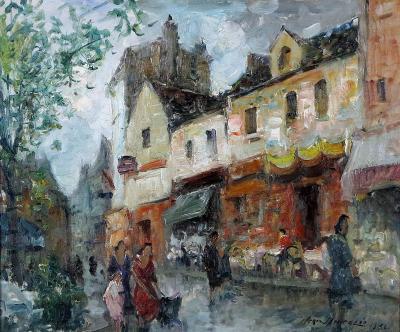 Merio Ameglio Parisian Street Scene