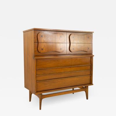 Merton Gershun Merton Gershun for American of Martinsville 5 Drawer Highboy Dresser