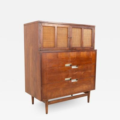 Merton Gershun Restored Merton Gershun for American of Martinsville X Inlay Walnut Dresser