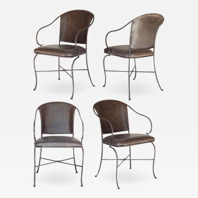 Metal Chairs With Faux Leather Seats