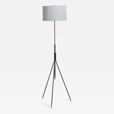 Metal and brass adjustable floor lamp Denmark 1950s