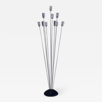 Metal floor lamp with ten rods 1970s