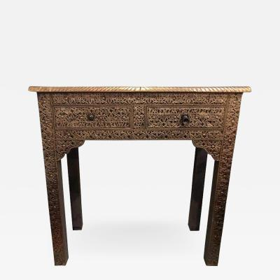 Metal over Wood Moroccan Royal Wall Console