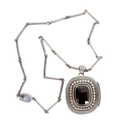Mexican Modernist Silver Necklace from Taxco by Antonio Pineda