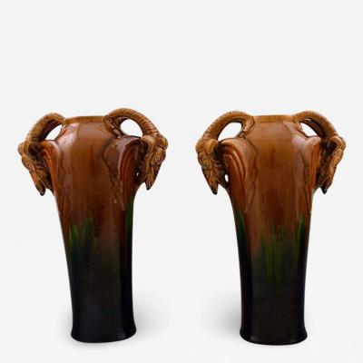 Michael Andersen A pair of vases in ceramics with Rams Luster glaze