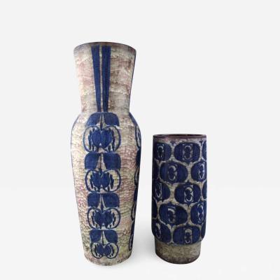 Michael Andersen Michael Andersen Two large ceramic floor vases