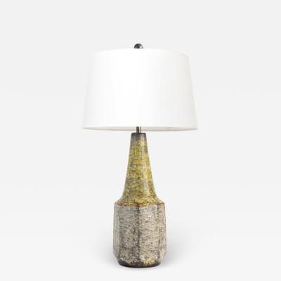 Michael Andersen Son ICHAEL ANDERSEN SON CRACKLE GLAZED LAMP 1950S BORNHOLM DENMAR