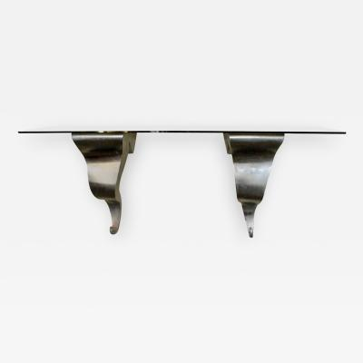 Michael Aram Aluminum and Glass Wall Shelf by Michael Aram