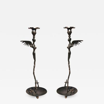 Michael Aram Early Bronze Candle Holders by Michael Aram