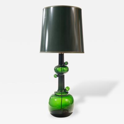 Michael Bang Attributed A Green Glass Table Lamp