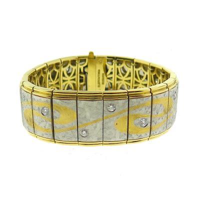 Michael Bondanza Michael Bondanza Platinum Diamond Cuff Bracelet