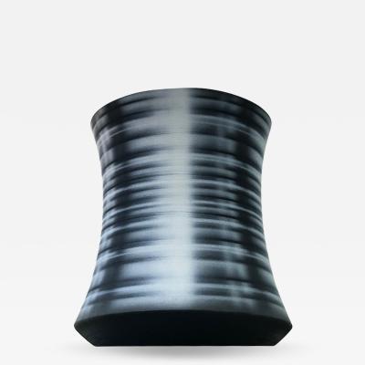 Michael Dickey Black Striped Vessel