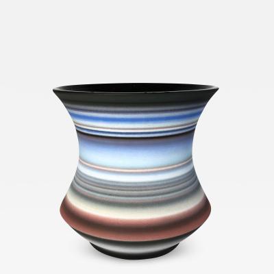 Michael Dickey Colored Striped Vessel