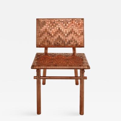 Michael Gittings Rec Rec Chair Copper Chair Signed by Michael Gittings