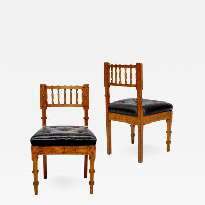 Michael Gottlieb Birckner Bindesb ll Noteworthy Pair of Neo Antique Chairs by Michael Gottlieb Birckner Bindesb ll
