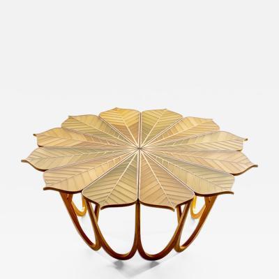 Michael Hurwitz Twelve Leaf Resin Table