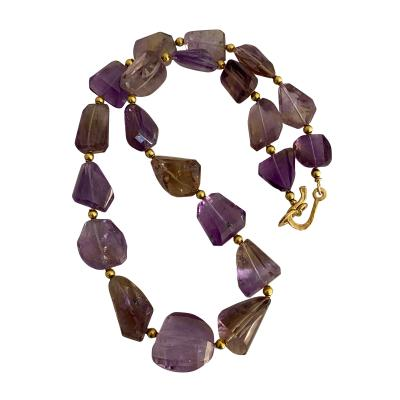 Michael Kneebone Michael Kneebone Ametrine Faceted Nugget Bead Necklace