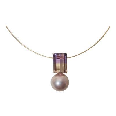 Michael Kneebone Michael Kneebone Ametrine Kasumi Lavender Pearl Pendant