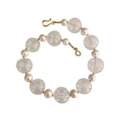 Michael Kneebone Michael Kneebone Baroque Pearl Blown Glass Effervescent Necklace