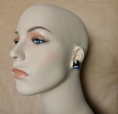 Michael Kneebone Michael Kneebone Black Baroque Peacock Pearl White Diamond Stud Earrings