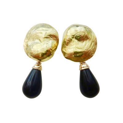 Michael Kneebone Michael Kneebone Black Onyx 18 Karat Jingle Dangle Earrings