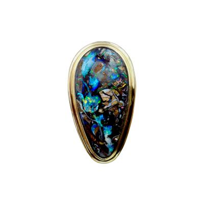 Michael Kneebone Michael Kneebone Boulder Opal 18K Yellow Gold Cocktail Ring