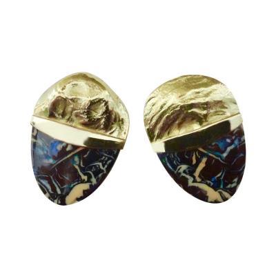Michael Kneebone Michael Kneebone Boulder Opal Jingle 18 Karat Gold Earrings