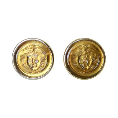 Michael Kneebone Michael Kneebone Carved Citrine Medusa Head 18 Karat Gold Cuff Links