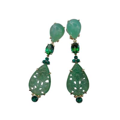 Michael Kneebone Michael Kneebone Chrysoprase Green Topaz Diopside Jadeite Dangle Earrings