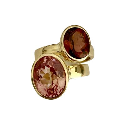 Michael Kneebone Michael Kneebone Cognac Tourmaline Morganite Stacking Leah Rings